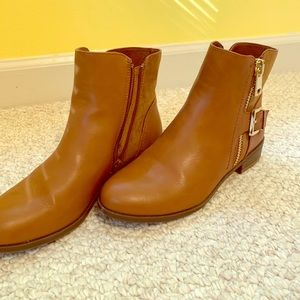 Suede/leather ankle boots